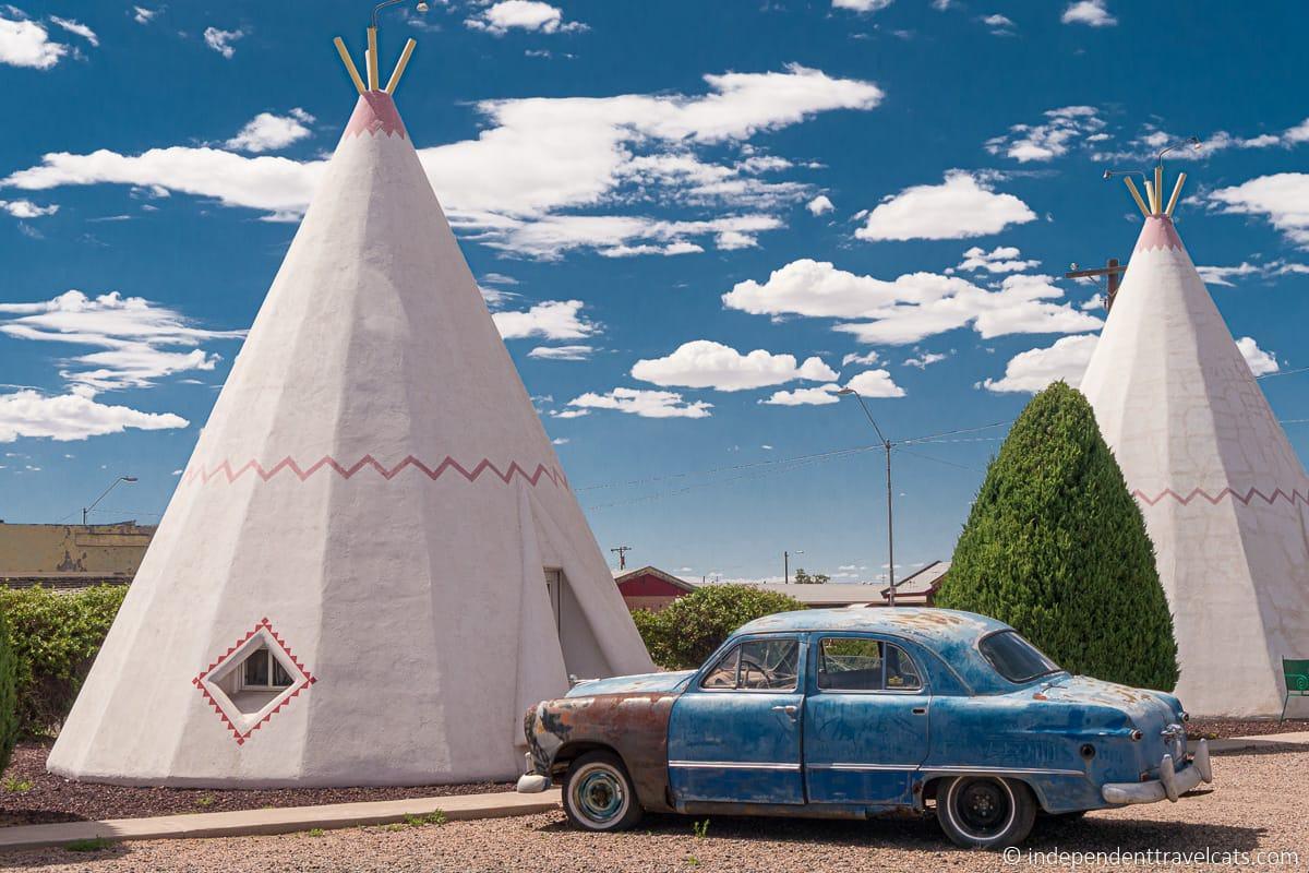 Wigwam Motel Holbrook Arizona Route 66 teepee motel Route 66 motels