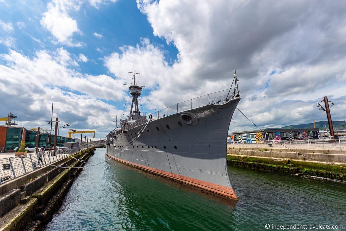 HMS Caroline ship Titanic Quarter maritime attractions in Belfast