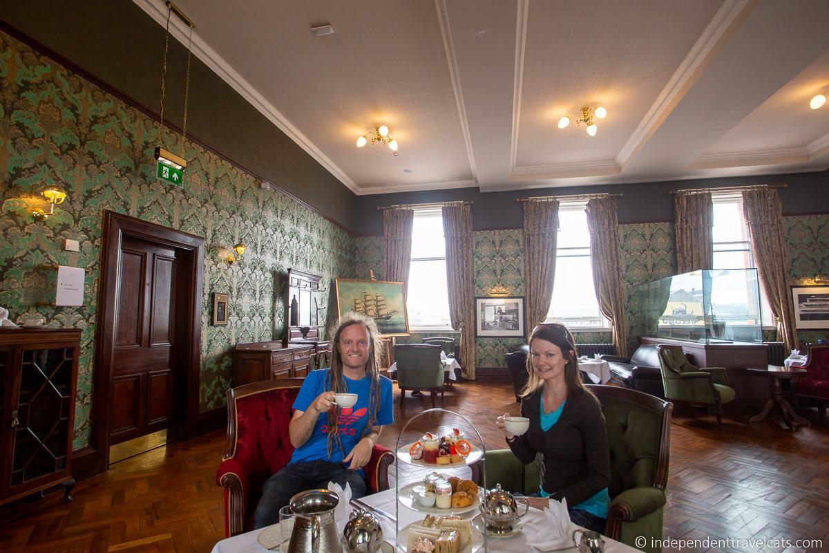 Titanic Hotel Belfast afternoon tea high tea Titanic sites in Belfast martime attractions Northern Ireland