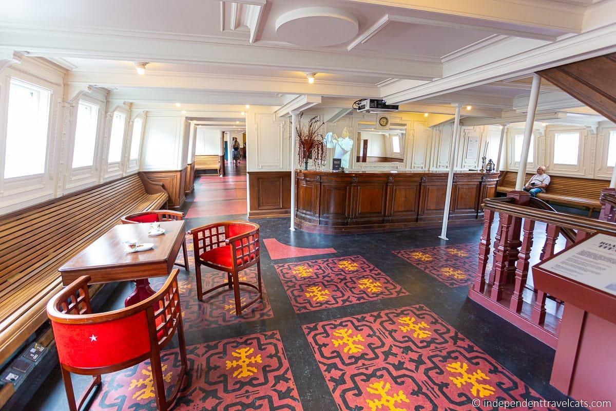 SS Nomadic interior Titanic sites in Belfast martime attractions Northern Ireland