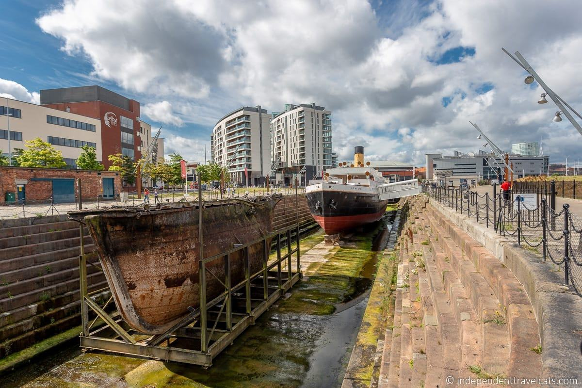 Maritime Mile Cassion Gate SS Nomadic Harland & Wolff Titanic sites in Belfast martime attractions Northern Ireland
