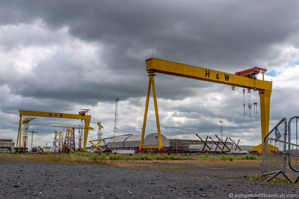 Samson & Goliath gantry cranes Belfast martime sites Harland and Wolff shipyard