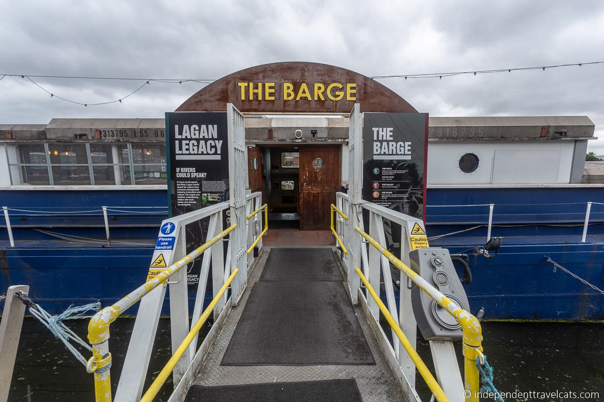 The Belfast Barge museum Lagan barge martime attractions in Belfast