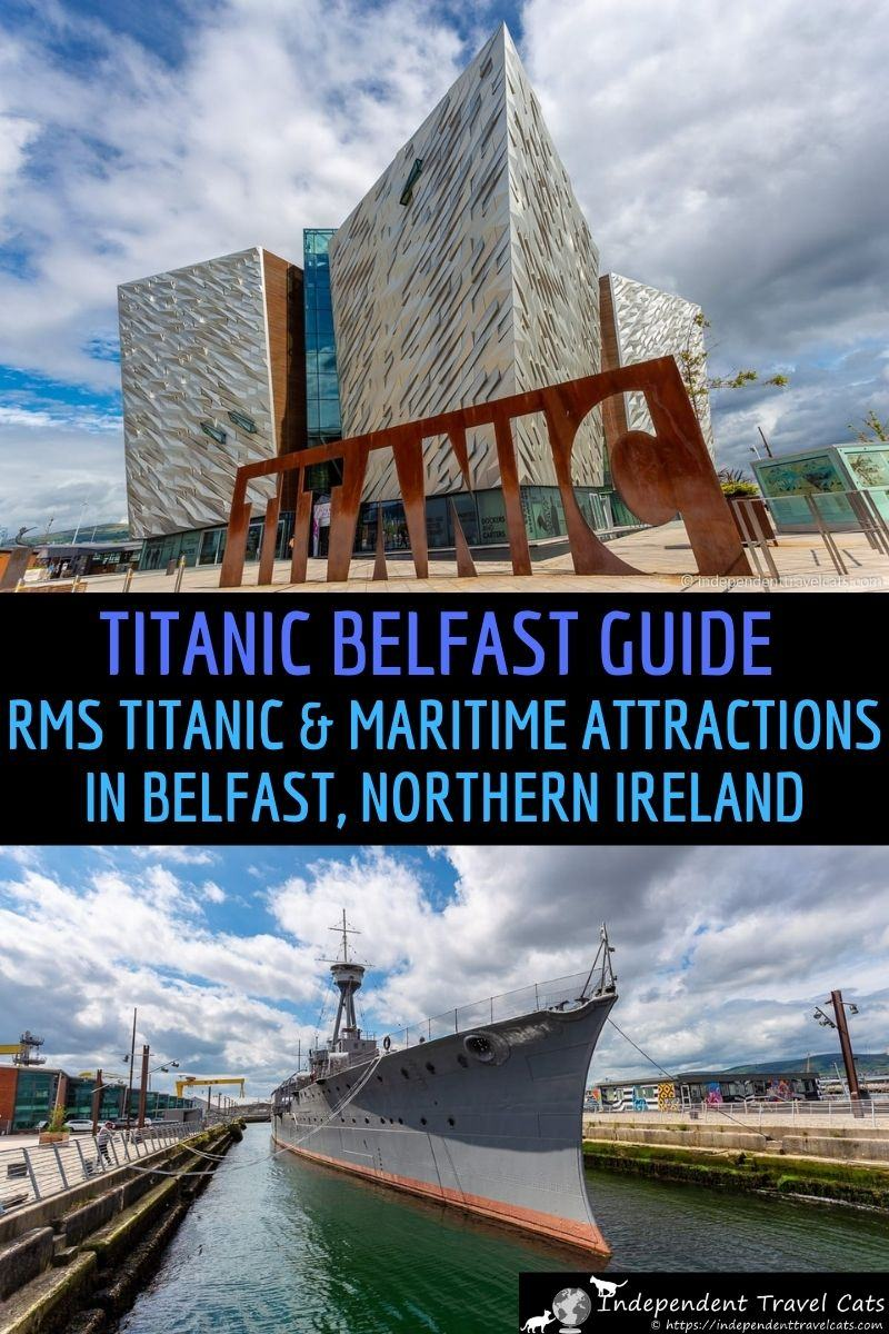 A complete guide to visiting Belfast Titanic and all the other Titanic sites and attractions in Belfast. The RMS Titanic was designed, built, and launched in Belfast. We share lots of information and advice on visiting the Belfast Titanic as well as the other Titanic sites and maritime attractions in Belfast including the SS Nomadic, Titanic's Dock & Pump-House, Titanic Memorial Garden, and the HMS Caroline. #Titanic #TitanicBelfast #RMSTitanic #Belfast #NorthernIreland #travel #SSNomadic