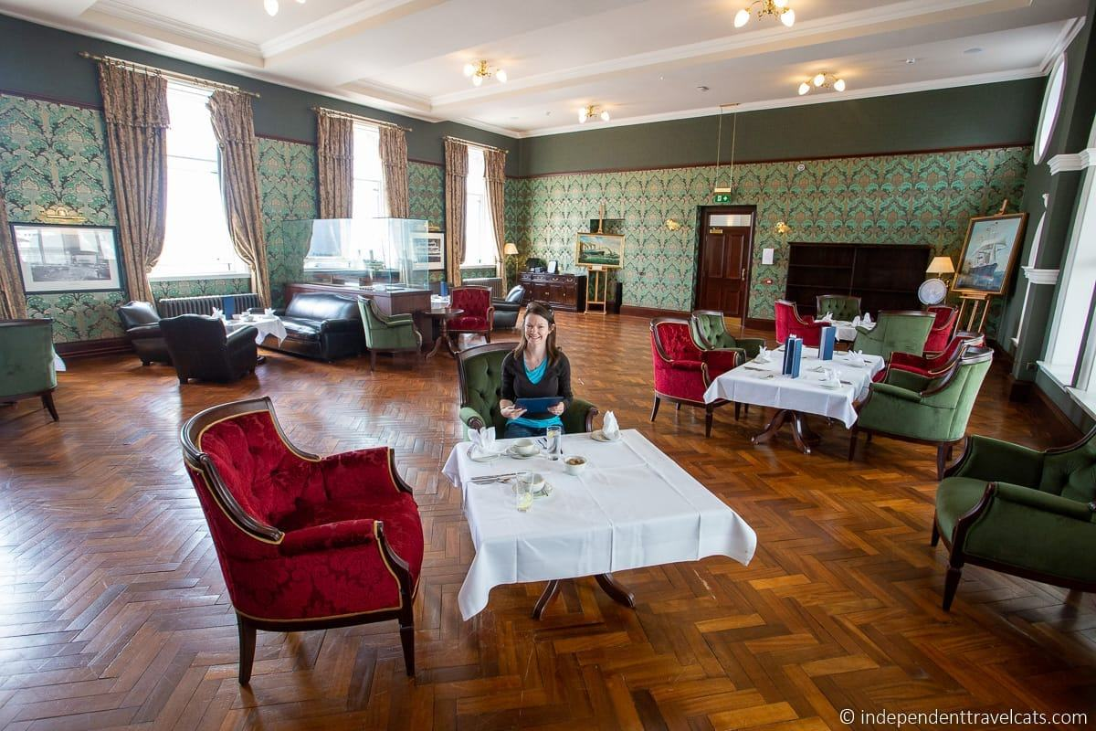 afternoon tea Titanic Hotel Belfast former Harland and Wolff Drawing Offices Titanic sites in Belfast martime attractions Northern Ireland