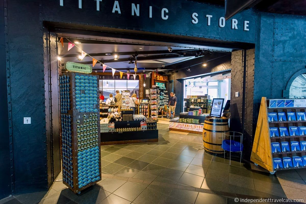 Titanic Store gift shop Titanic Belfast Museum Titanic sites in Belfast martime attractions Northern Ireland