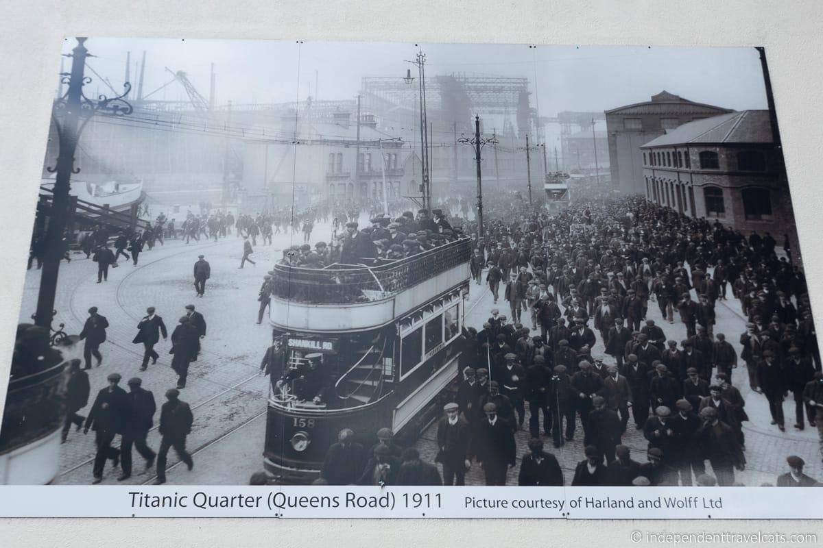 Queen's Island 1911 Harland & Wolff shipyard Titanic Belfast