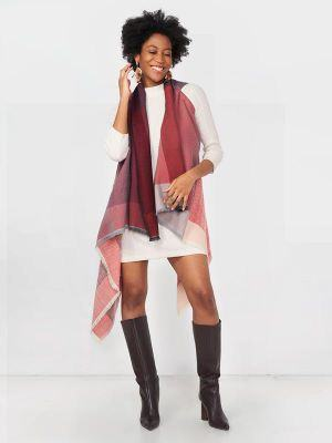 best travel wraps for women Fifth Origins colorful travel wrap wool poncho